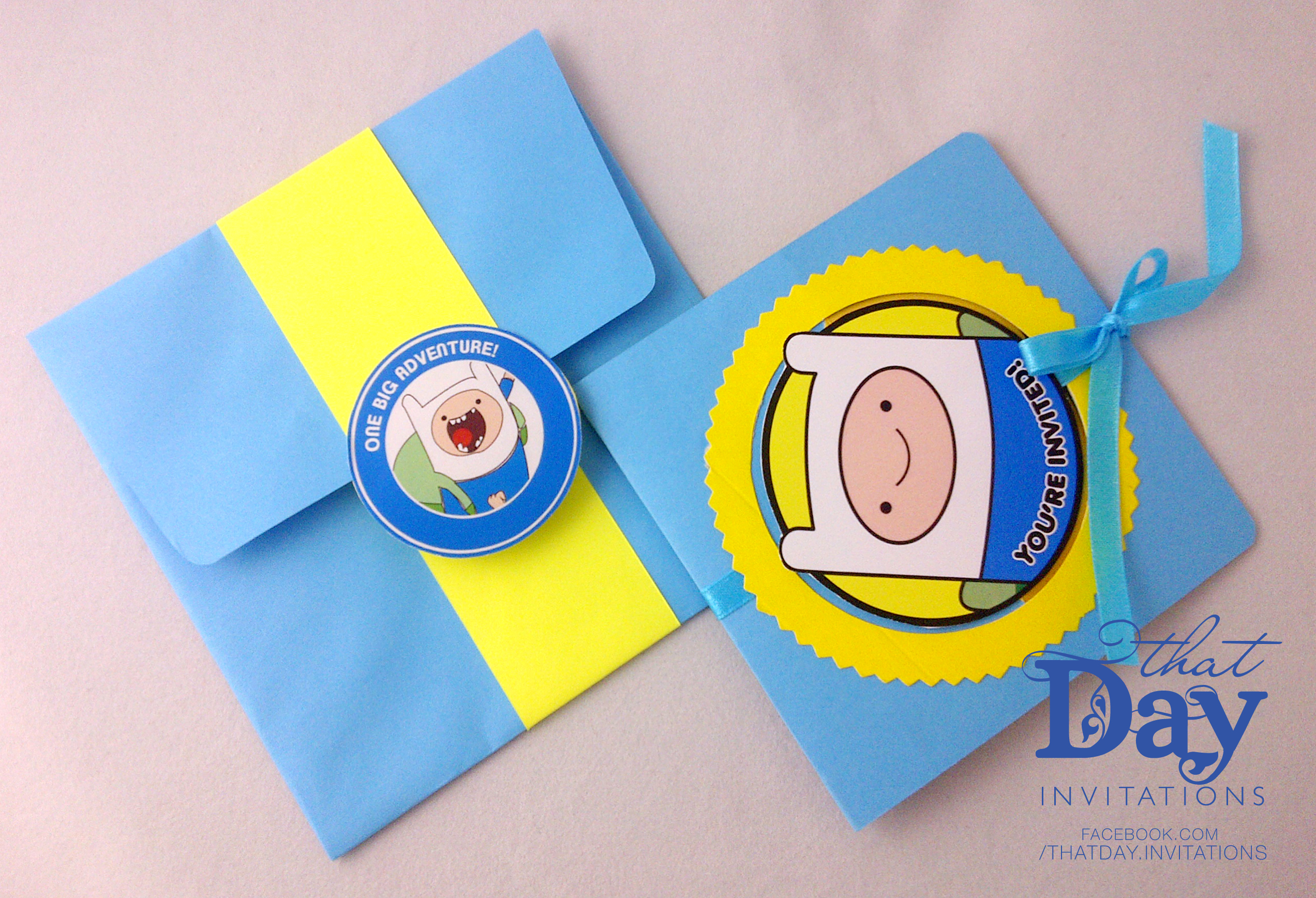 Rambois Adventure Time That Day Invites and Crafts